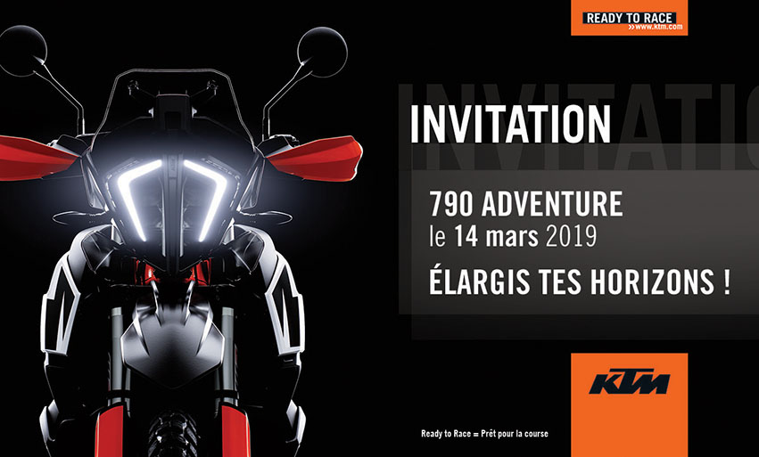 J-3 avant lancement 790 KTM Adventure