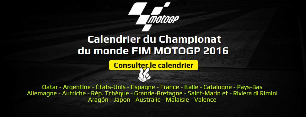 Calendrier Du Championnat Du Monde FIM MOTOGP 2017
