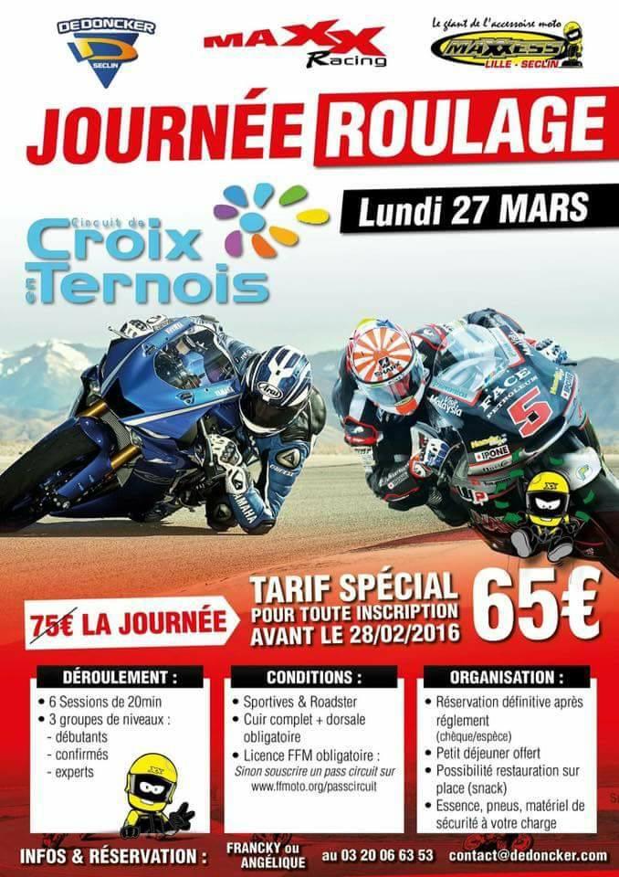 Journée de roulage sur le circuit de Croix en Ternois avec MAXXESS LILLE