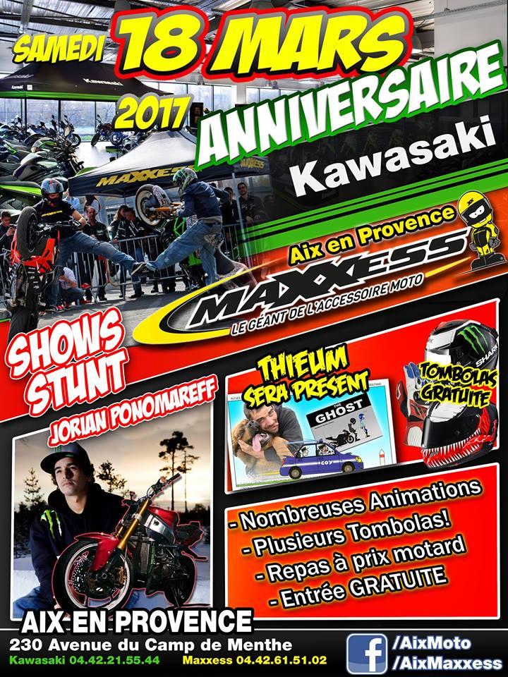 Samedi 18 mars - anniversaire MAXXESS AIX / KAWASAKI