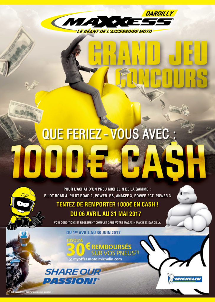 Tentez de remporter 1 000€ en cash avec MAXXESS DARDILLY !