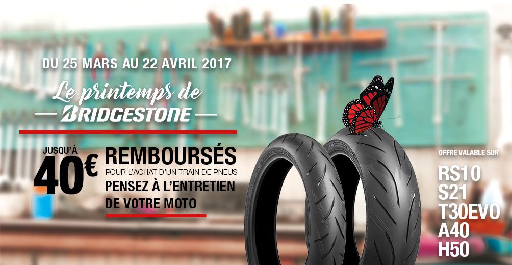 Jusqu'à 40 € Remboursés Sur Vos Pneus Bridgestone !