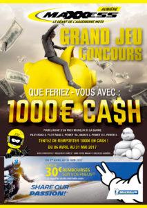 Tentez de remporter 1 000€ en cash avec MAXXESS Aubière !