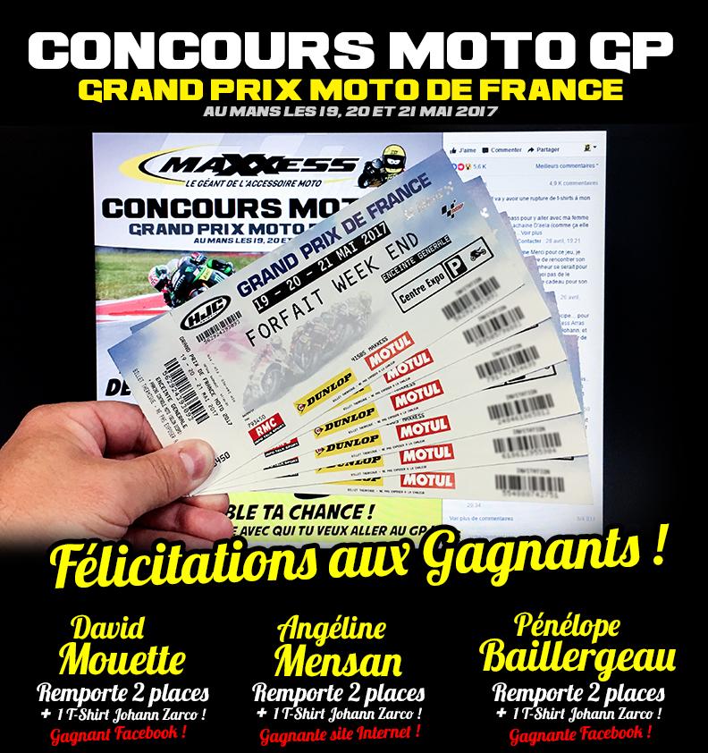 A retirer sur notre stand MAXXESS au MOTO GP !