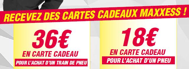 Chez MAXXESS VALENCE, Une Carte Cadeau De 36 € à 18 € Pour L'achat De Pneu(s) MICHELIN