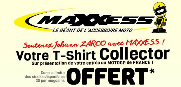 Soutenez Johann ZARCO Avec MAXXESS !