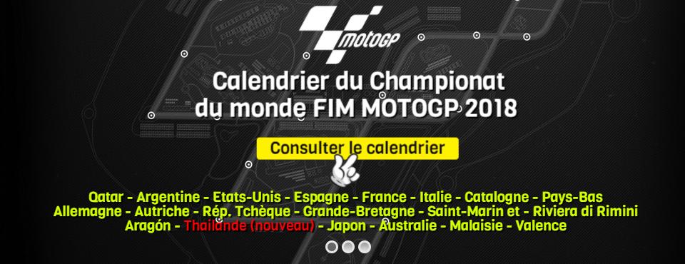 Calendrier Du Championnat Du Monde FIM MOTOGP 2018