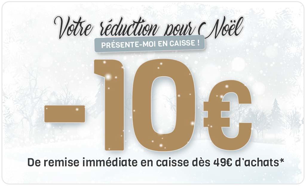 -10 € De Remise Immédiate En Caisse