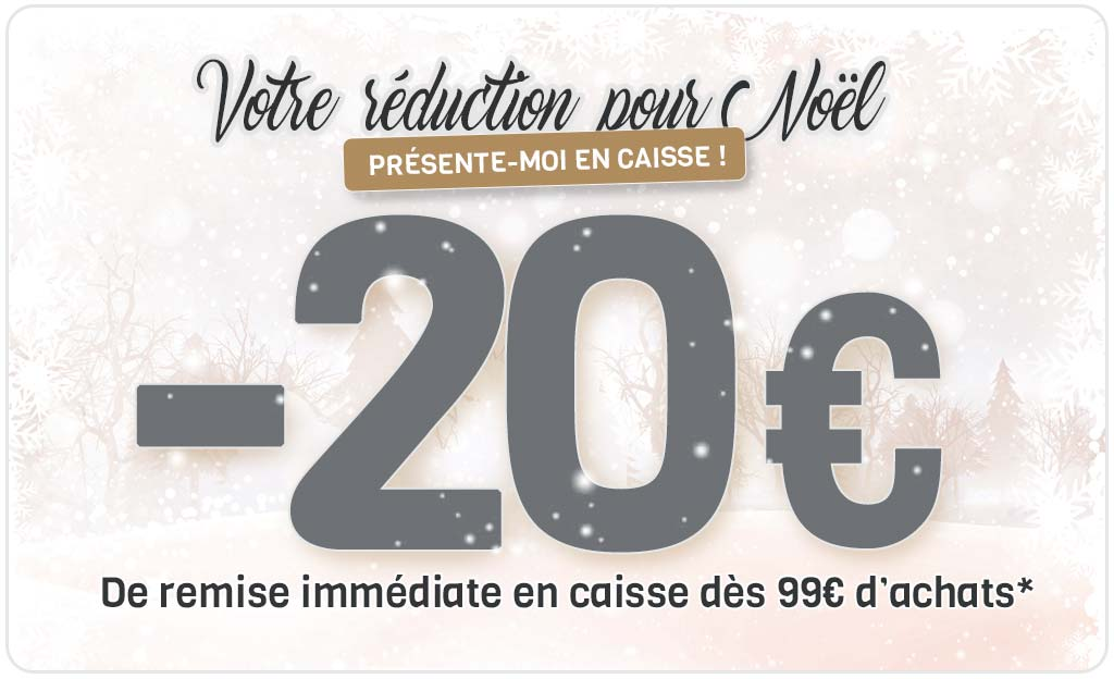 -20 € De Remise Immédiate En Caisse