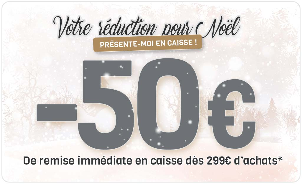 -50 € De Remise Immédiate En Caisse