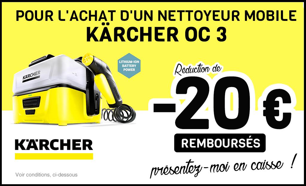 -20 € Pour L'achat D'un Nettoyeur Mobile KÄRCHER OC 3 !