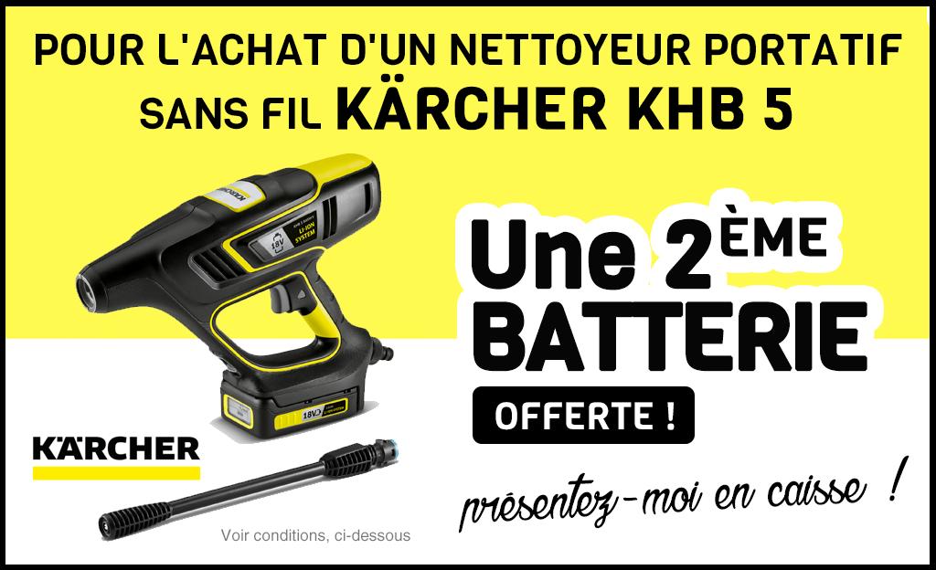 Pour L'achat D'un Nettoyeur Portatif Sans-fils KÄRCHER KHB 5