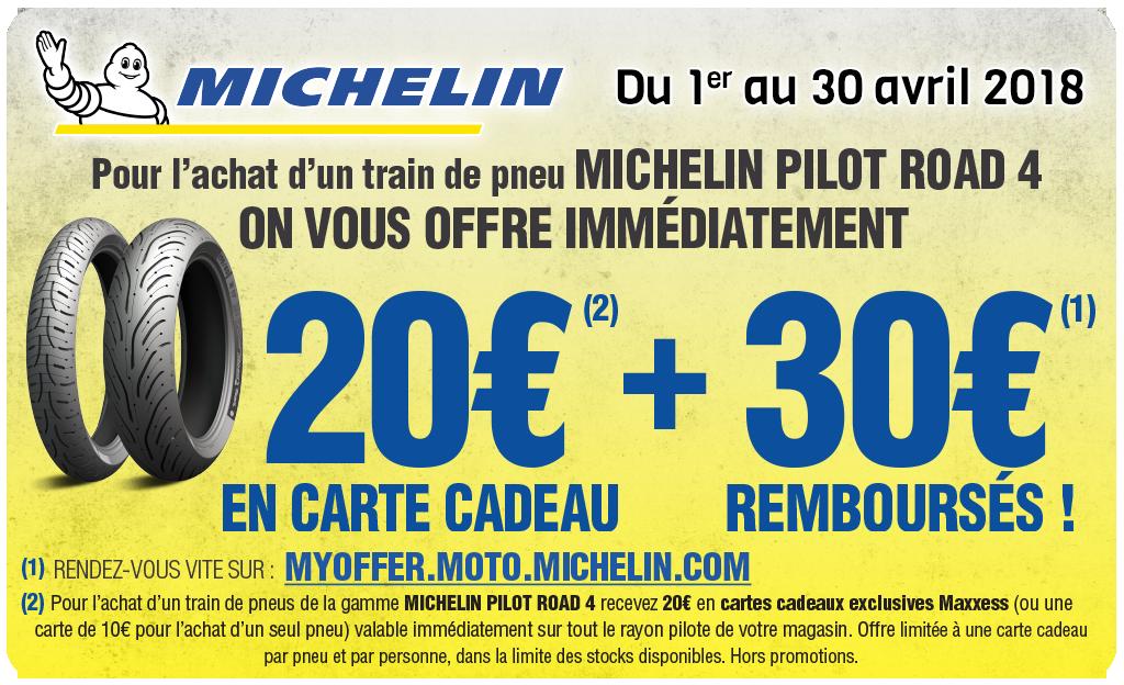 Offre Maxxess & Michelin  – 20€ En Carte Cadeau / 30€ Remboursés