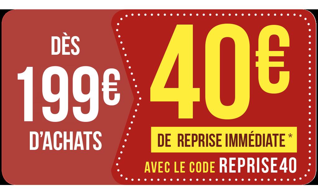 Reprise IMMÉDIATE 🔥avec Le Code REPRISE40