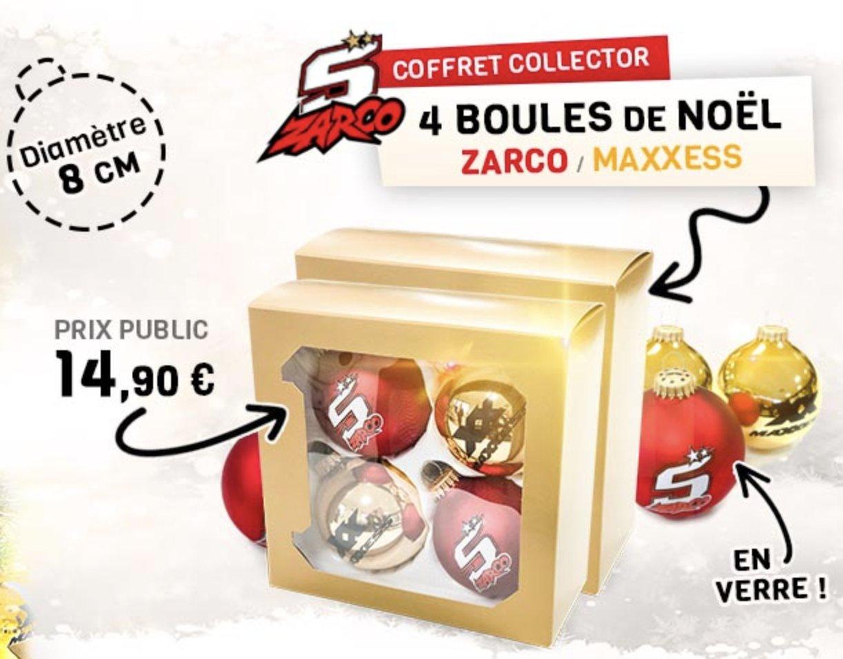Lot De 4 Boules De Noël ZARCO / MAXXESS