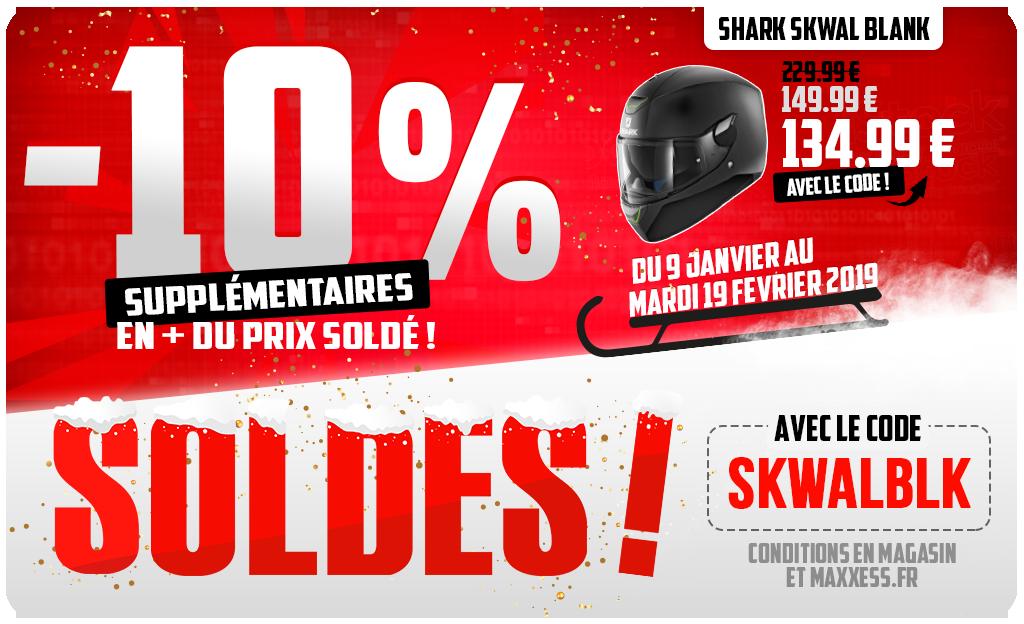 -10 % Supplémentairessur Casque SHARK SKWAL BLANK !