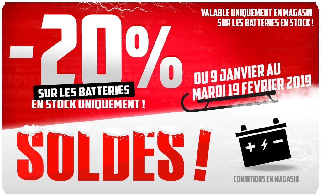 -20% Sur Les Batteriesen Stock !