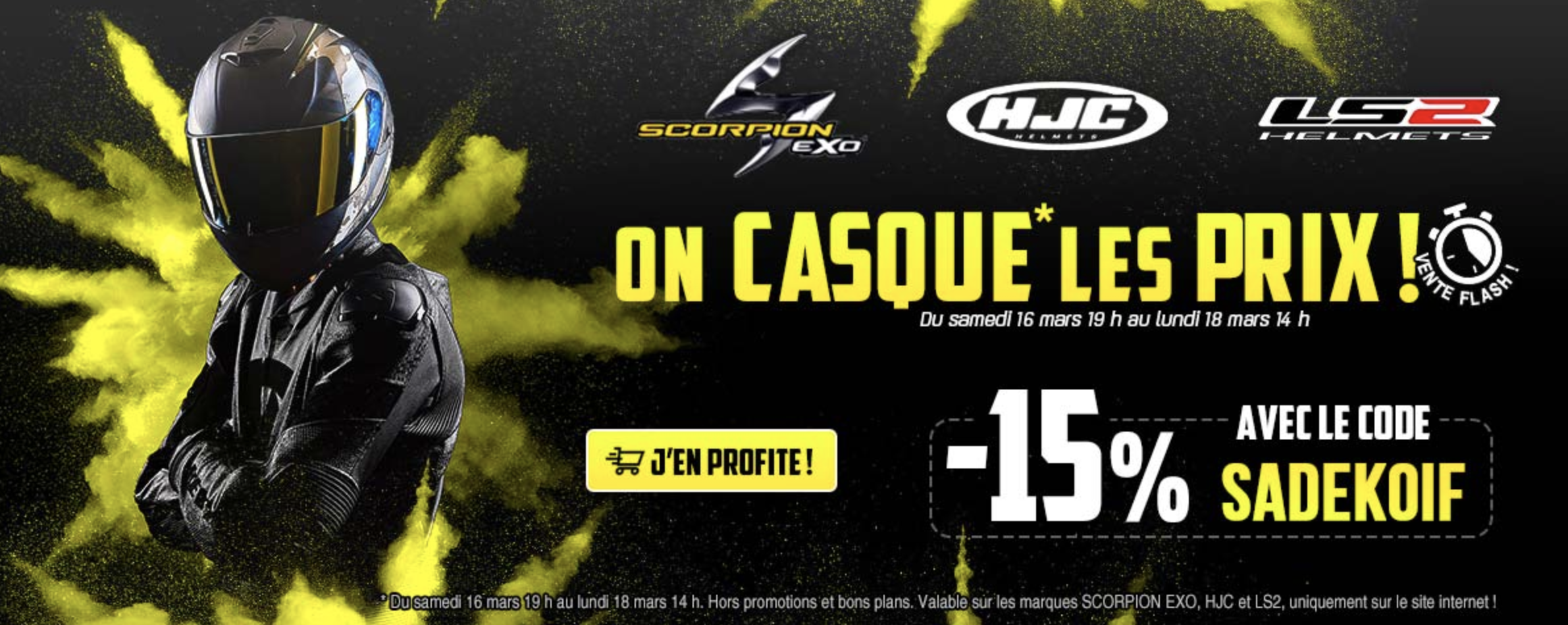 -15% Sur Les Casques, Scorpion, Hjc, Ls2