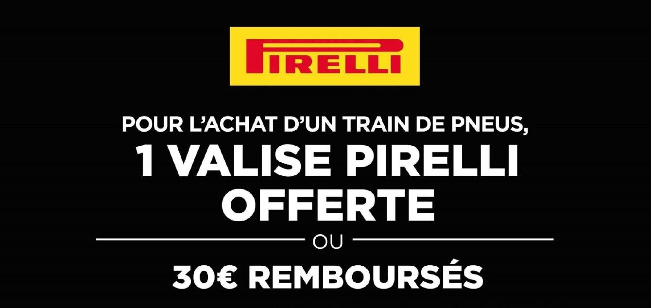 1 Valise OFFERTE Pour L'achat D'un Train De Pneus Ou 30 €