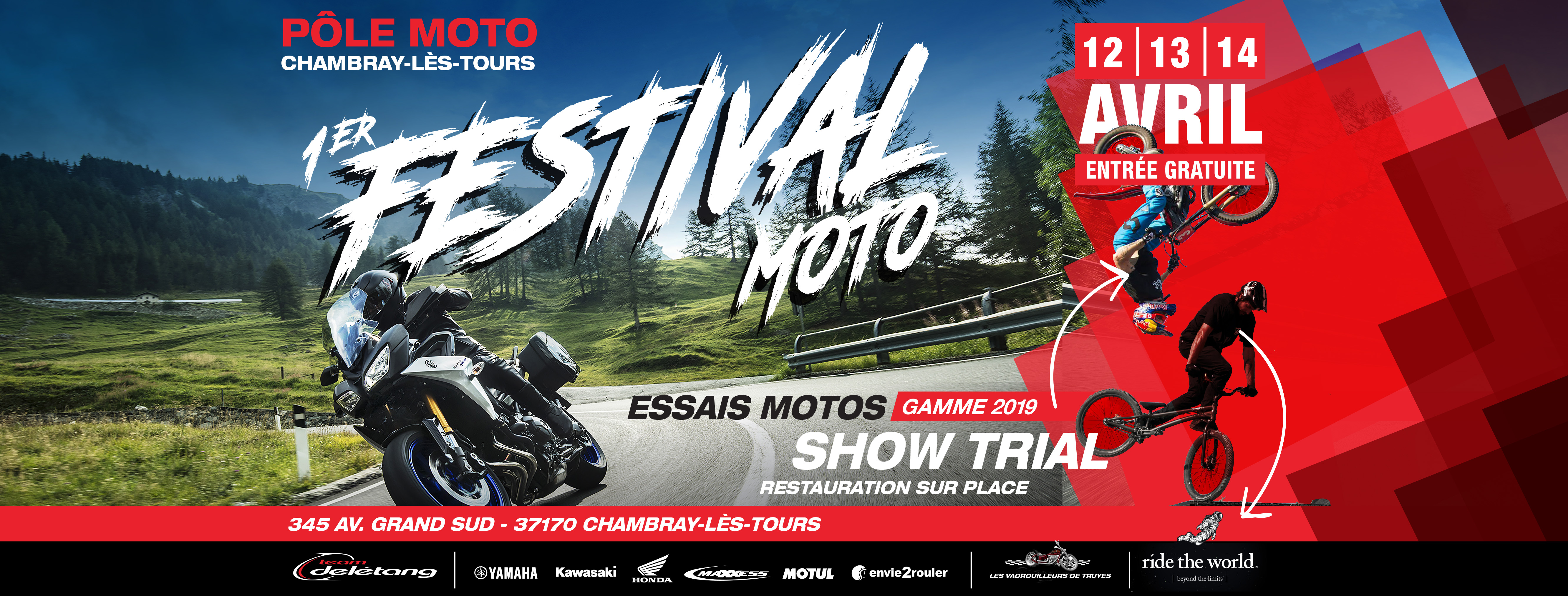 Essais Motos, Show Trial, Restauration, Pôle Moto à Chambray-lès-Tours
