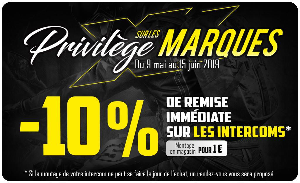 Privilèges Sur Les Marques 10% INTERCOM