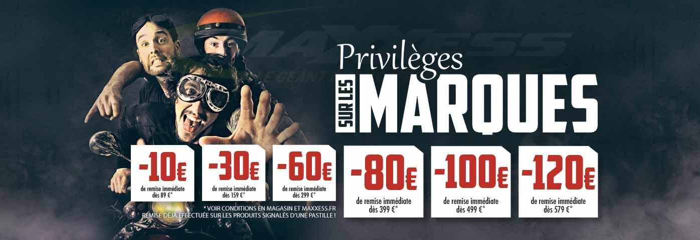 PRIVILÈGES SUR LES MARQUES