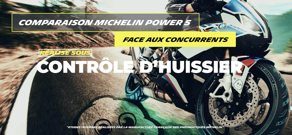 Comparatif Michelin Power 5 VS Concurent