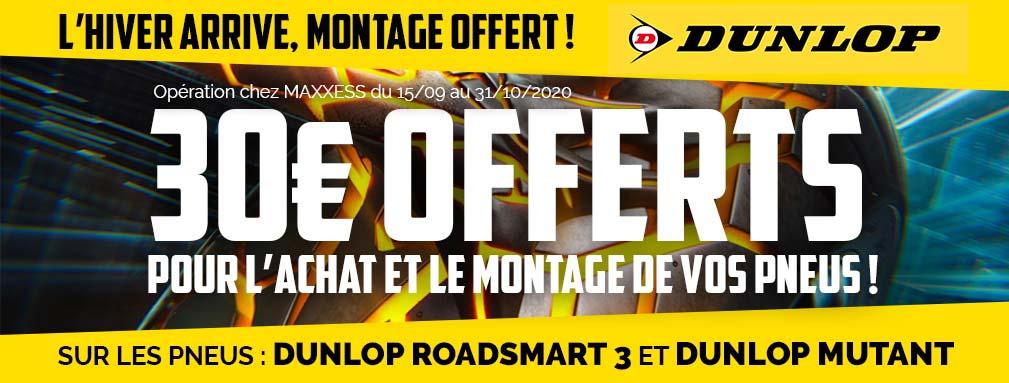 L'hiver Arrive, Montage Offert Sur Les Pneus DUNLOP !